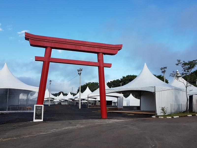 Img: Bunkyo Mogi das Cruzes finaliza montagem de estrutura do Akimatsuri