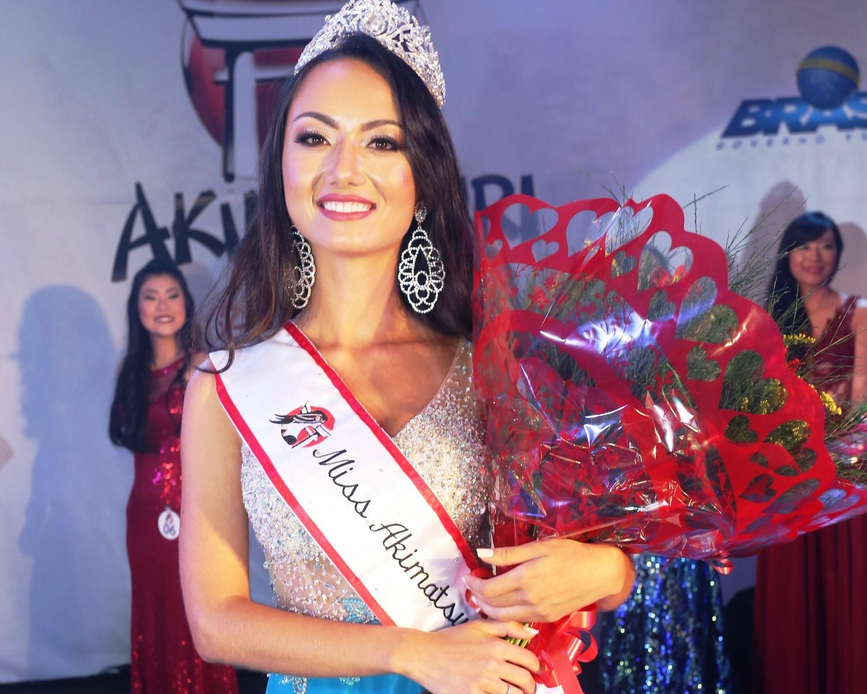 Img: Mogiana é eleita Miss Akimatsuri 2018