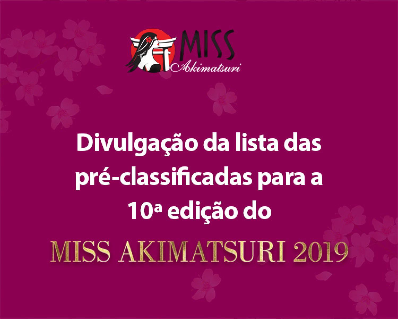 Img: Concurso Miss Akimatsuri divulga pré-classificadas para a 10a edição
